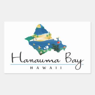 Hanauma湾ハワイ 長方形シール