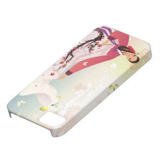 hanbokの韓国の女性 iPhone SE/5/5s ケース