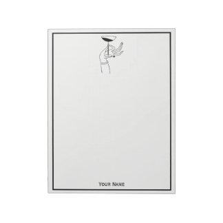 Hand HoldingシャンペンGlassアールデコの女性の ノートパッド