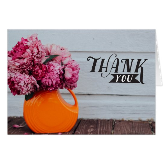 """hand lettered """" Thank you"""" card カード"""