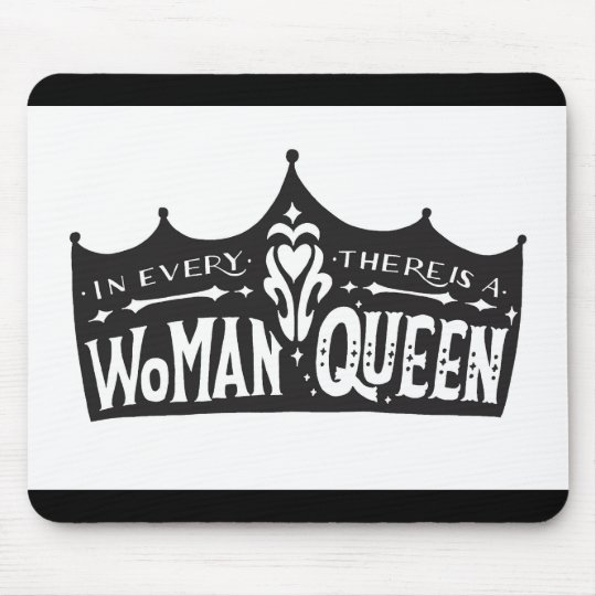 """Hand lettering mouse pad """"there is a queen"""" マウスパッド"""