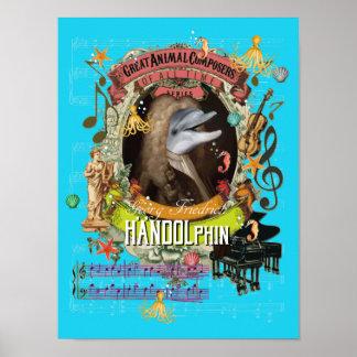 Handel Spoof Parody Handolphin Dolphin Composer ポスター