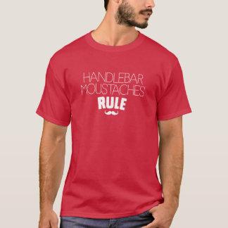 Handlbarの口ひげの規則 Tシャツ