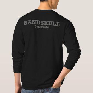 HANDSKULLブリュッセル- Hanesの十字のNano長袖 Tシャツ