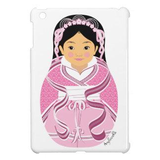HanFuの女の子のMatryoshkaの中国のなピンクのiPad Miniケース iPad Mini カバー