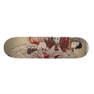 Hangakujo、1885年頃メスの武士 スケボー