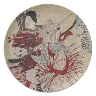 Hangakujo、1885年頃メスの武士 プレート