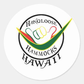 HANGLOOSEのハンモックのハワイSHAKAのステッカー ラウンドシール