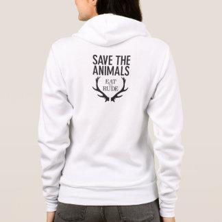 Hannibalは失礼の/保存を動物のフード付きスウェットシャツ食べます パーカ