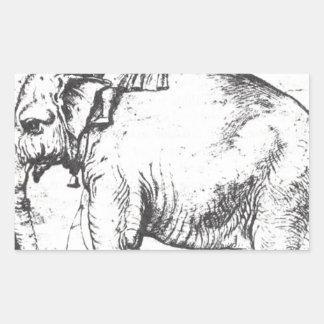 、HannoレオX Elephant Raphaelによる法皇 長方形シール