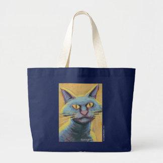 Hannon猫の挑戦に印を付けて下さい ラージトートバッグ