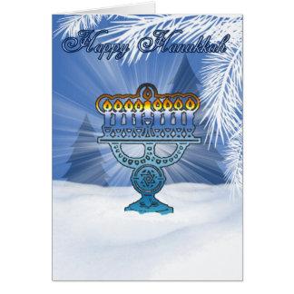 hannukahカード冬の景色 グリーティングカード