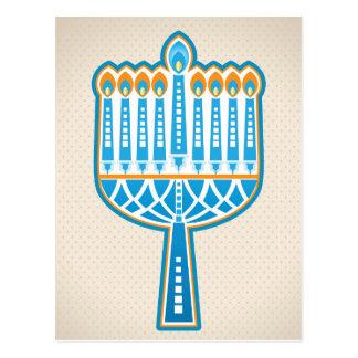 Hannukkahの蝋燭 ポストカード