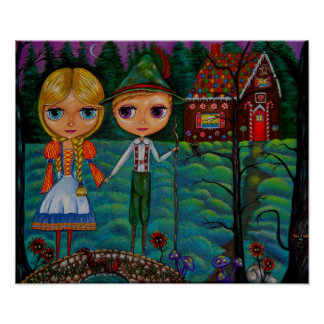 HanselおよびGretel Blytheの人形 ポスター