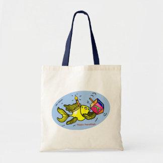 Hanukaの活発な魚-喜劇的な治療のスケッチのギフト トートバッグ