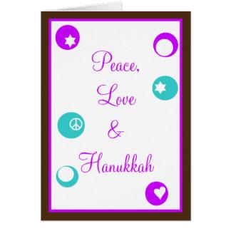Hanukahの幸せなハヌカー(ユダヤ教の祭り) カード