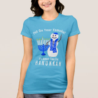 Hanukkah Snowman Cute Put On Your Yamuka Funny Tシャツ