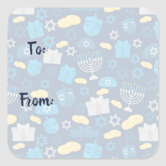 Hanukkah Themed Stickers スクエアシール