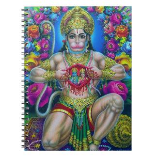 Hanumanのヒンズー教の神主 ノートブック