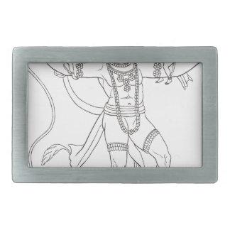Hanuman 長方形ベルトバックル