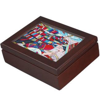 Haoのポーンクレーンダンスの抽象芸術の女性絵画の芸術 ジュエリーボックス