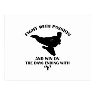 hapkidoの軍デザイン ポストカード