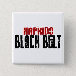 Hapkidoの黒帯 5.1cm 正方形バッジ
