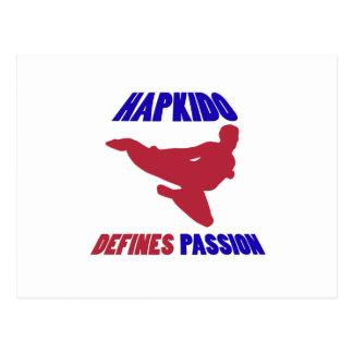 Hapkidoを定義します ポストカード