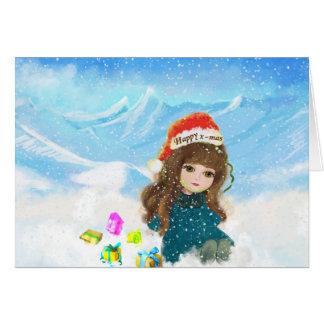 Happ x-masのかわいい人形カード カード
