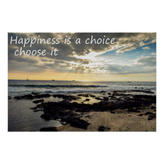 Happiness is a choice ポスター