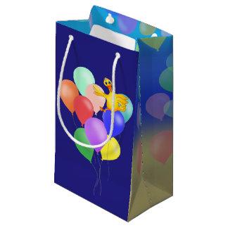 happyのJuul Company著ダッキーの気球の飛行 スモールペーパーバッグ