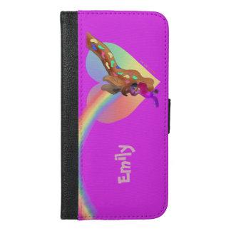 happyのJuul Company著ハートの虹及びLila iPhone 6/6s Plus ウォレットケース