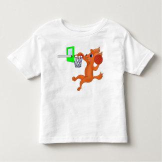 happyのJuul Company著幸せなバスケットボール トドラーTシャツ