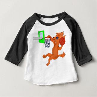 happyのJuul Company著幸せなバスケットボール ベビーTシャツ