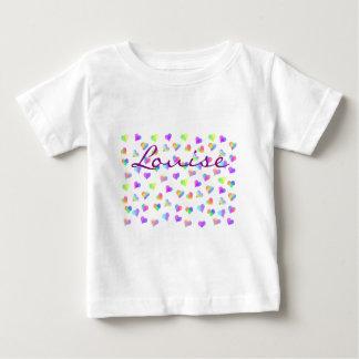 happyのJuul Company著愛及び虹のハート ベビーTシャツ