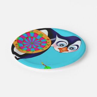 happyのJuul Company著投げ矢のペンギン ペーパープレート
