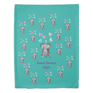 happyのJuul Company著象のハート 掛け布団カバー