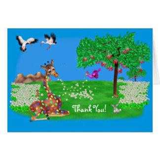happyのJuul Company著Flowerchainのベビーシャワー カード