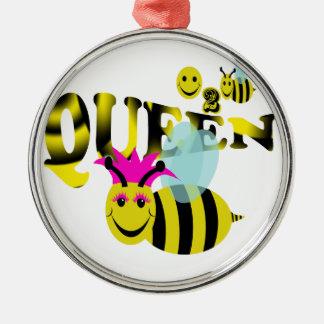 happy2beeの女王バチ メタルオーナメント