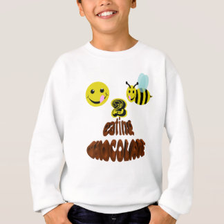 happy2beeの食べ物チョコレート スウェットシャツ
