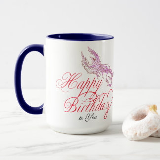 Happy Birthday Bird & Add Wife's Name Combo Mug マグカップ