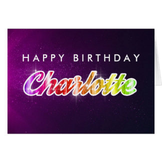Happy Birthday Charlotte Greeting Card カード