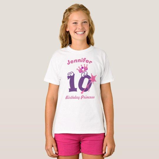 Happy Birthday Princess T-shirt 10 to 19 Tシャツ