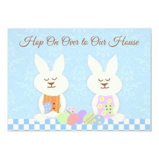 Happy Easter Bunnies Luncheon Invitation カード