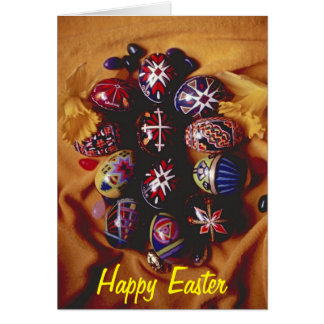 Happy Easter Greeting Card~Decorative Easter Eggs カード