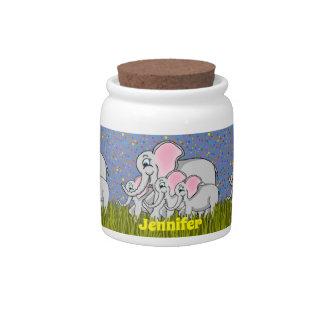 Happy Elephants Candy Jar キャンディー皿