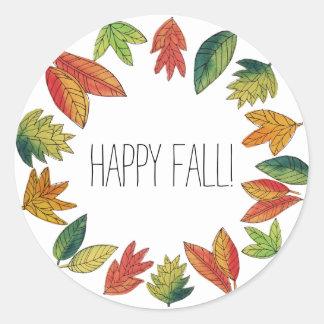 Happy Fall Foliage ラウンドシール