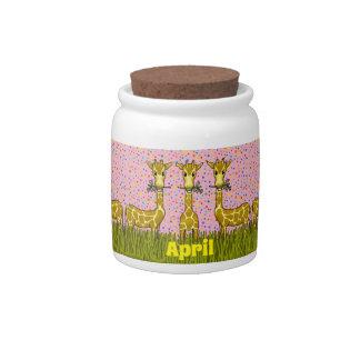 Happy Giraffes Candy Jar キャンディー皿