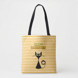 Happy Halloween Black Cat Trick or Treat Bag トートバッグ