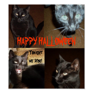 HAPPY HALLOWEEN FROM THE BLACK CATS ポスター